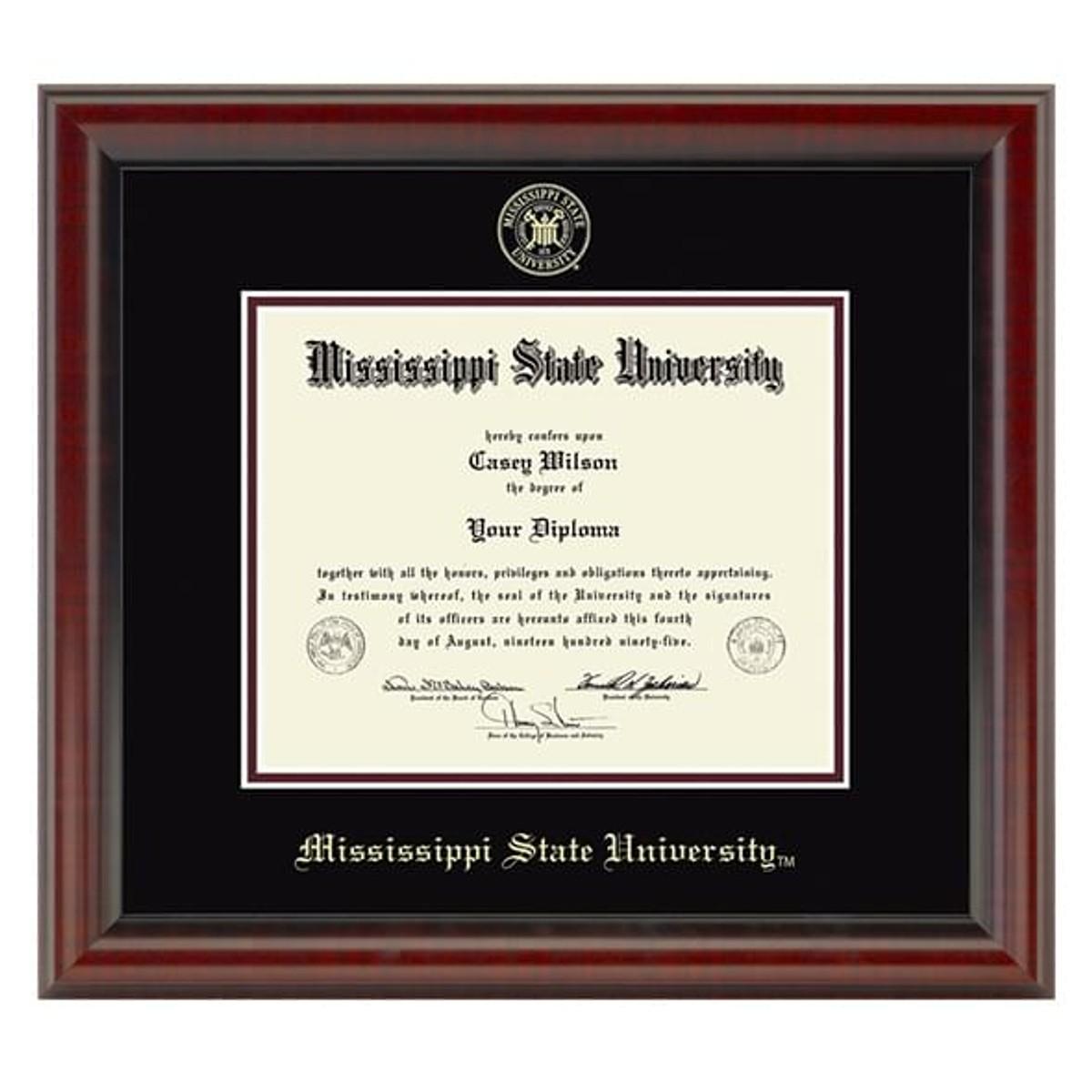 Mississippi State Diploma Frame Fidelitas Graduation Gift