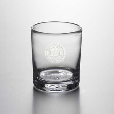 UNC Double Old Fashioned Glass by Simon Pearce