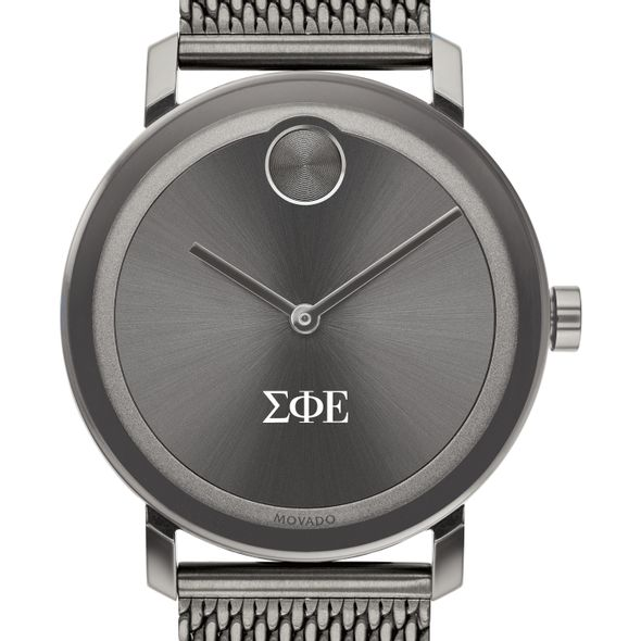 Sigma Phi Epsilon Men's Movado BOLD Gunmetal Grey with Mesh Bracelet