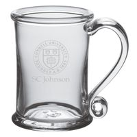 SC Johnson College Glass Tankard by Simon Pearce