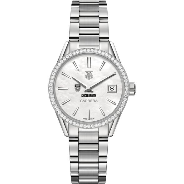 Chicago Booth Women's TAG Heuer Steel Carrera with MOP Dial & Diamond Bezel - Image 2