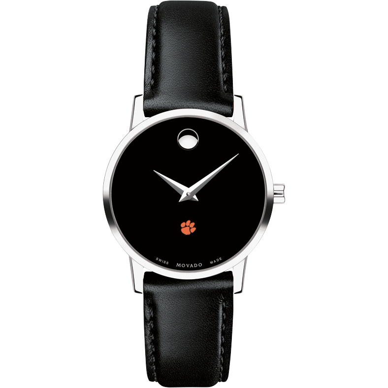 Clemson Women's Movado Museum with Leather Strap - Image 2