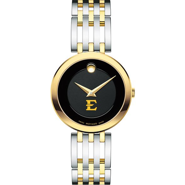 East Tennessee State University Women's Movado Esparanza Two-Tone Museum with Bracelet - Image 2