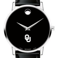 University of Oklahoma Men's Movado Museum with Leather Strap