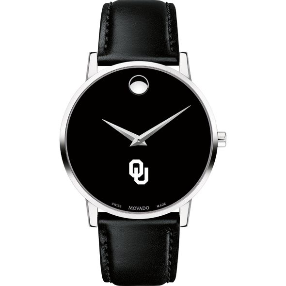 University of Oklahoma Men's Movado Museum with Leather Strap - Image 2
