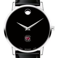 South Carolina Men's Movado Museum with Leather Strap