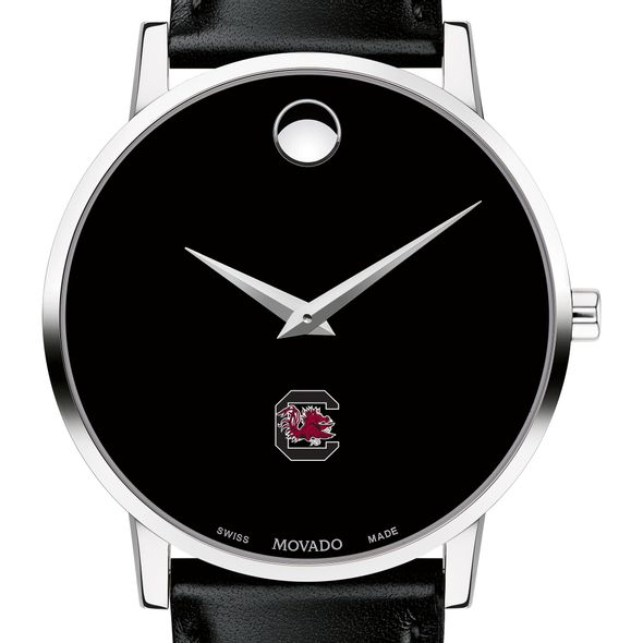University of South Carolina Men's Movado Museum with Leather Strap