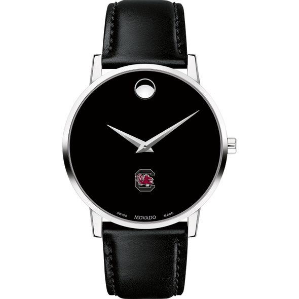 University of South Carolina Men's Movado Museum with Leather Strap - Image 2