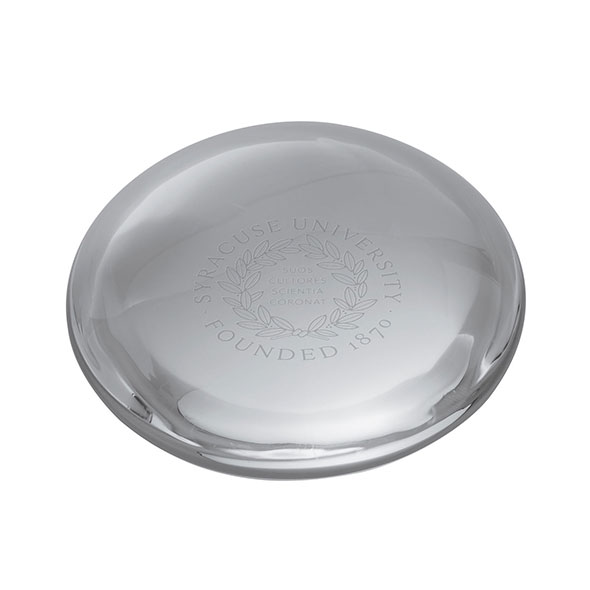 Syracuse University Glass Dome Paperweight by Simon Pearce