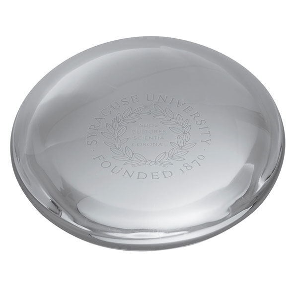 Syracuse University Glass Dome Paperweight by Simon Pearce - Image 2