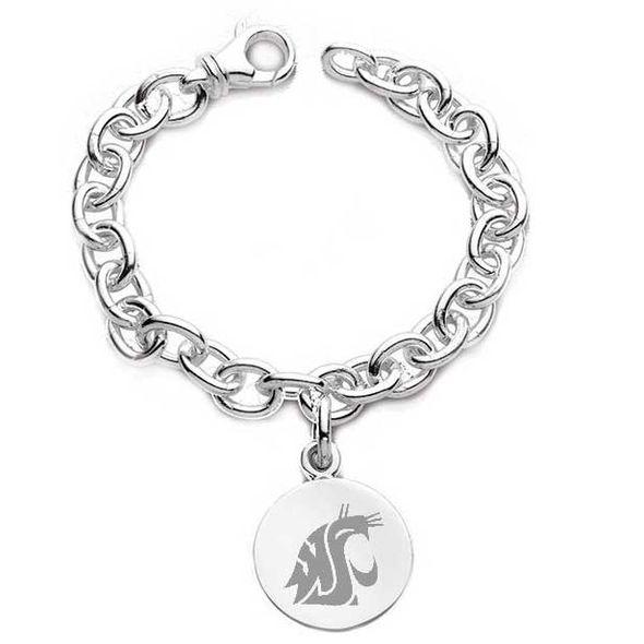 Washington State University Sterling Silver Charm Bracelet