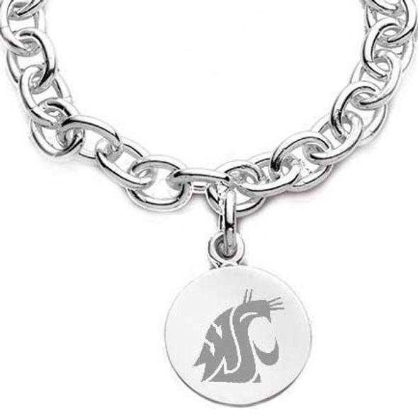 Washington State University Sterling Silver Charm Bracelet - Image 2