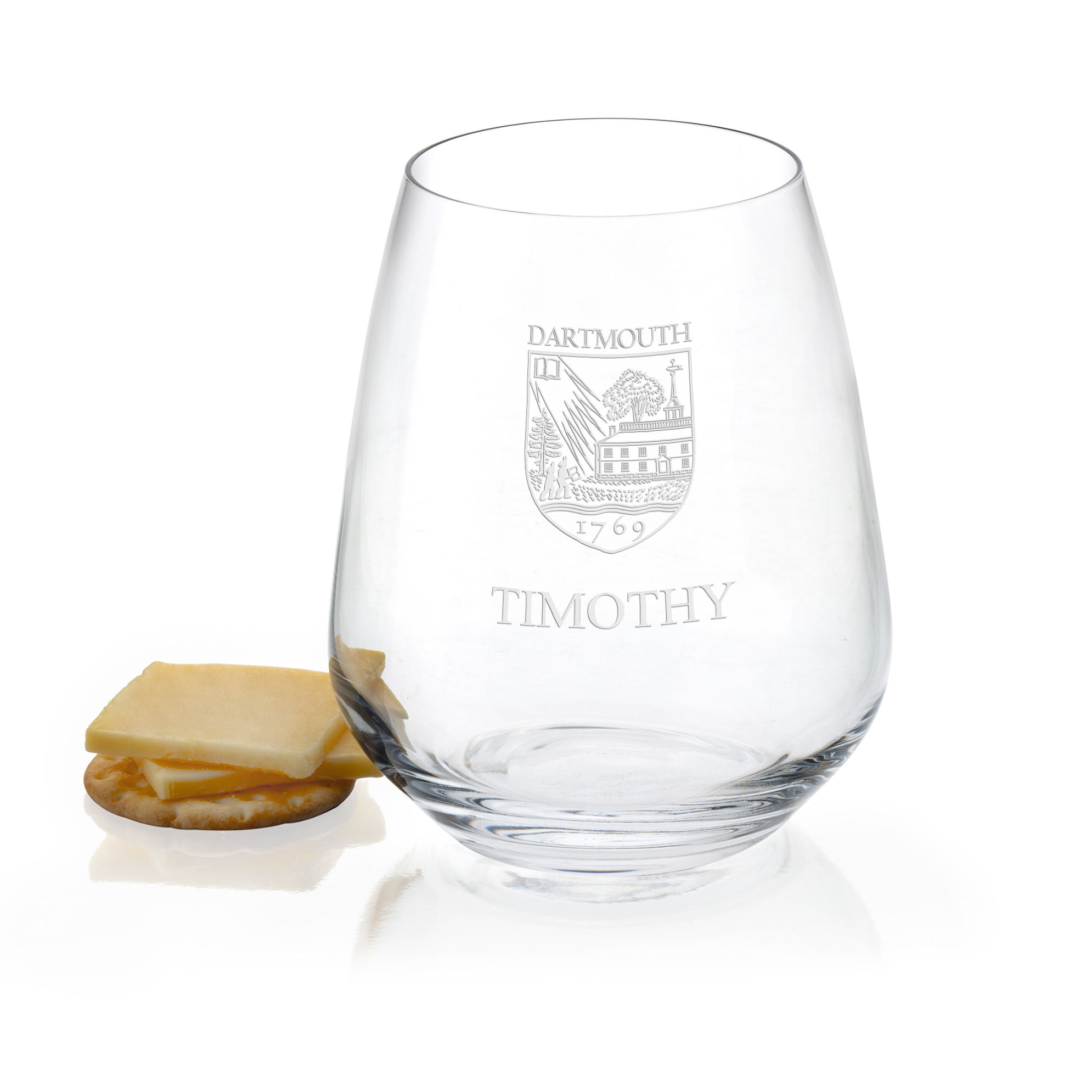 Dartmouth College Stemless Wine Glasses - Set of 4