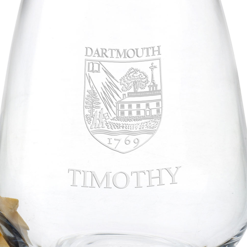 Dartmouth College Stemless Wine Glasses - Set of 4 - Image 3