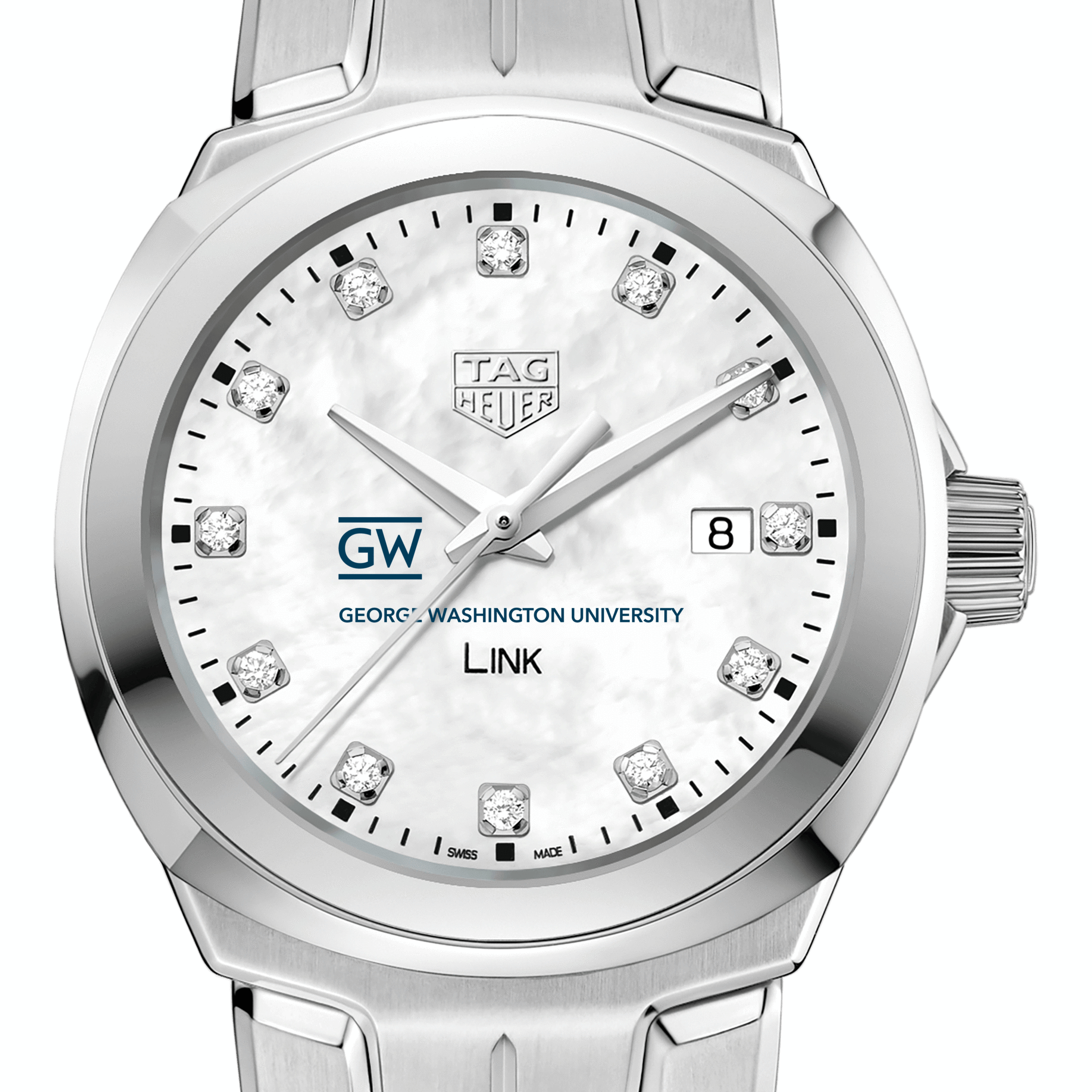 George Washington University TAG Heuer Diamond Dial LINK for Women
