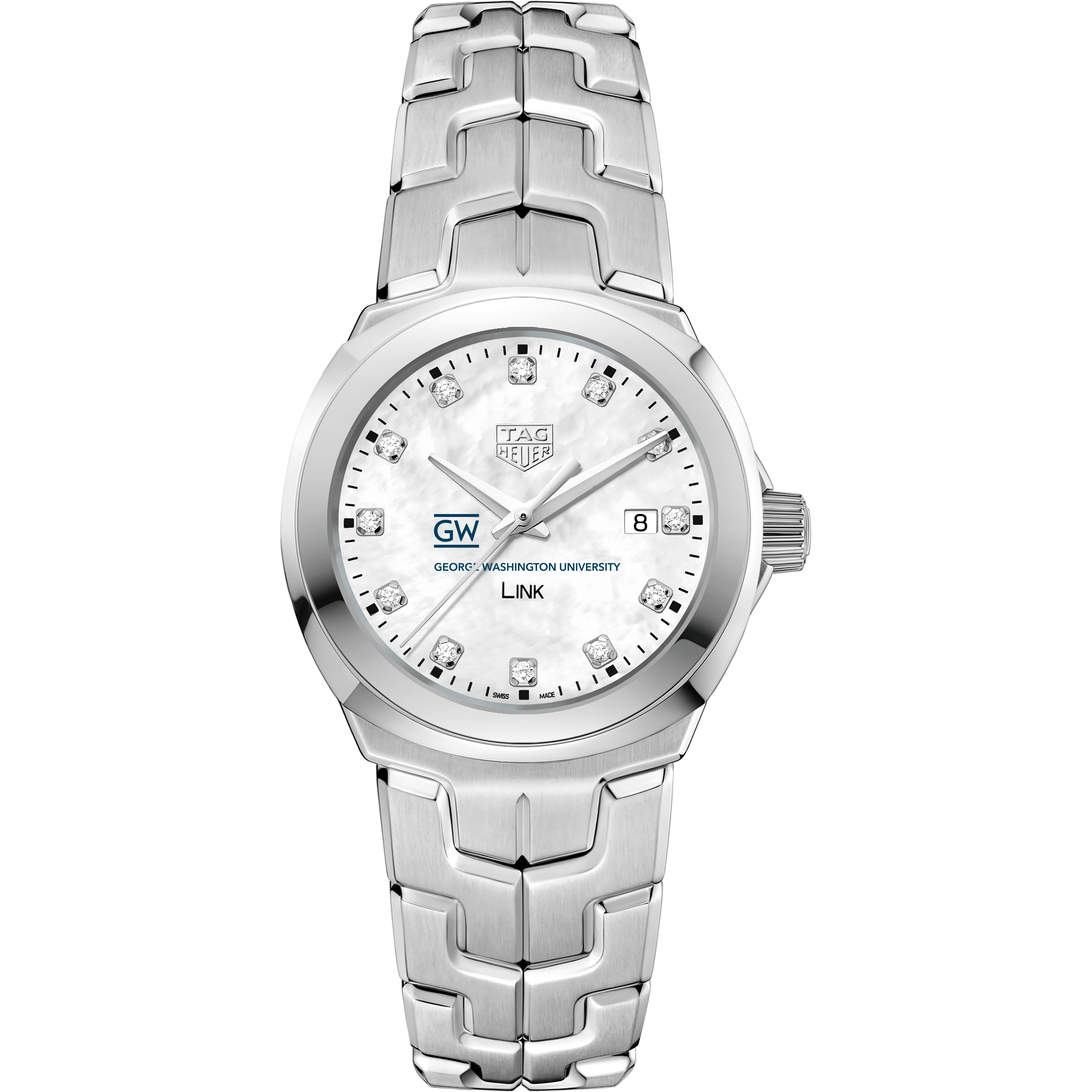 George Washington University TAG Heuer Diamond Dial LINK for Women - Image 2