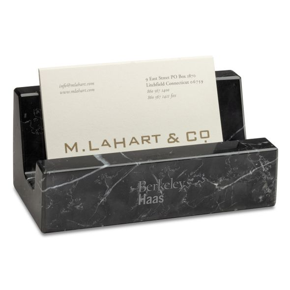 Berkeley Haas Marble Business Card Holder - Image 1
