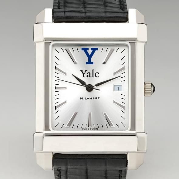 Yale Men's Collegiate Watch with Leather Strap - Image 1