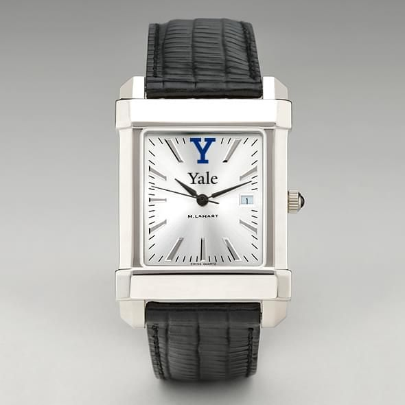 Yale Men's Collegiate Watch with Leather Strap - Image 2