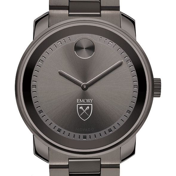 Emory University Men's Movado BOLD Gunmetal Grey - Image 1
