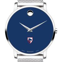Carnegie Mellon University Men's Movado Museum with Blue Dial & Mesh Bracelet