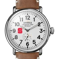 NC State Shinola Watch, The Runwell 47mm White Dial