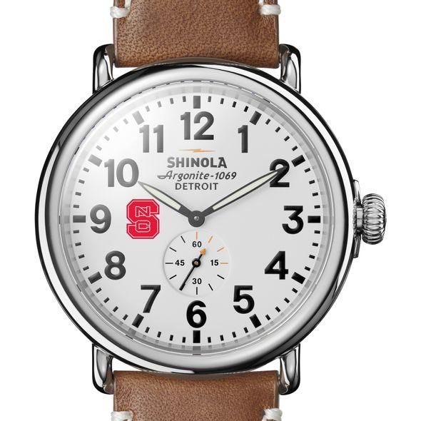 NC State Shinola Watch, The Runwell 47mm White Dial