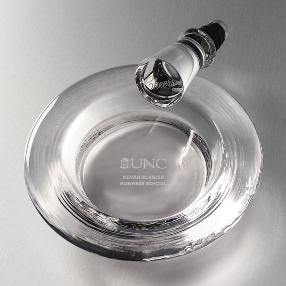 UNC Kenan-Flagler Glass Wine Coaster by Simon Pearce