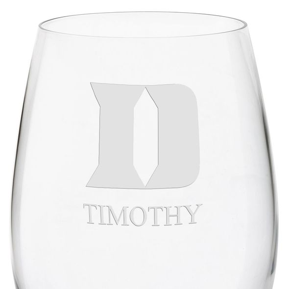 Duke University Red Wine Glasses - Set of 4 - Image 3