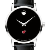 Wisconsin Women's Movado Museum with Leather Strap