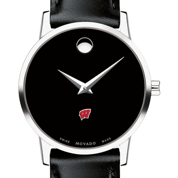 University of Wisconsin Women's Movado Museum with Leather Strap