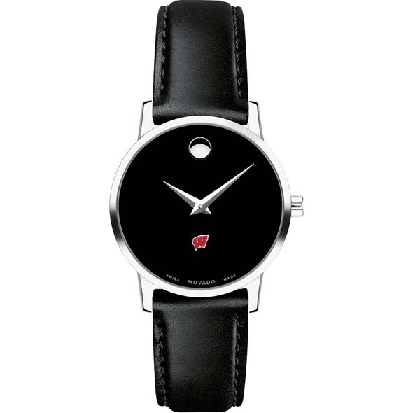University of Wisconsin Women's Movado Museum with Leather Strap - Image 2