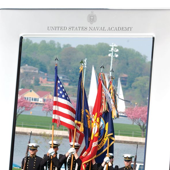 Naval Academy Polished Pewter 5x7 Picture Frame - Image 2
