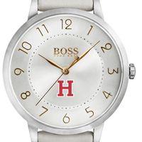 Harvard University Women's BOSS White Leather from M.LaHart
