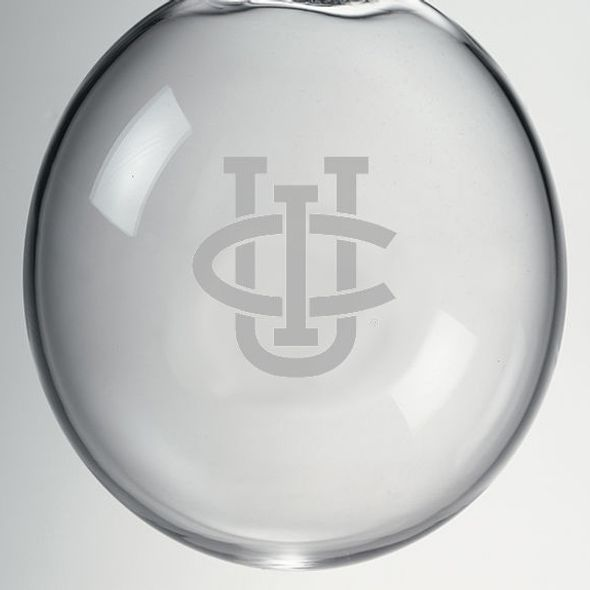 UC Irvine Glass Ornament by Simon Pearce - Image 2