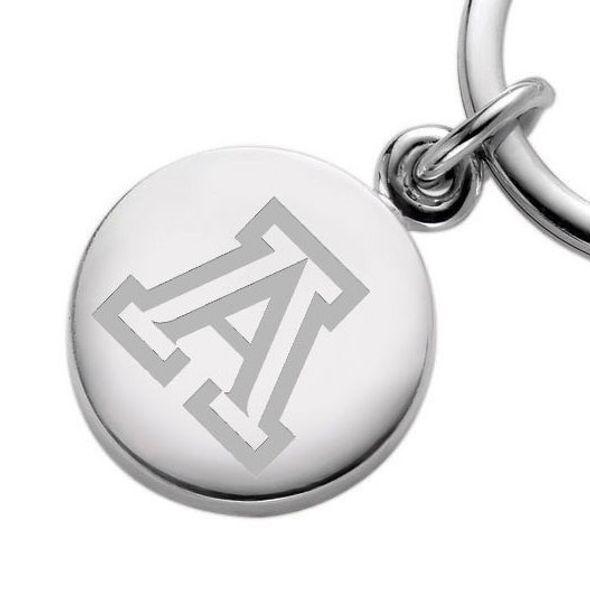 University of Arizona Sterling Silver Insignia Key Ring - Image 2