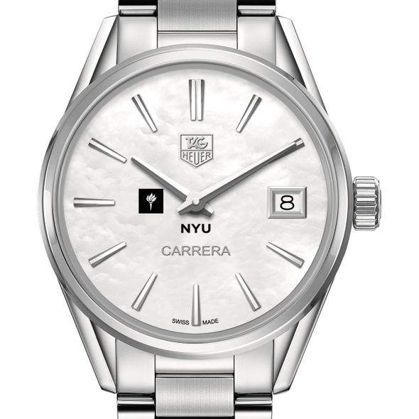New York University Women's TAG Heuer Steel Carrera with MOP Dial