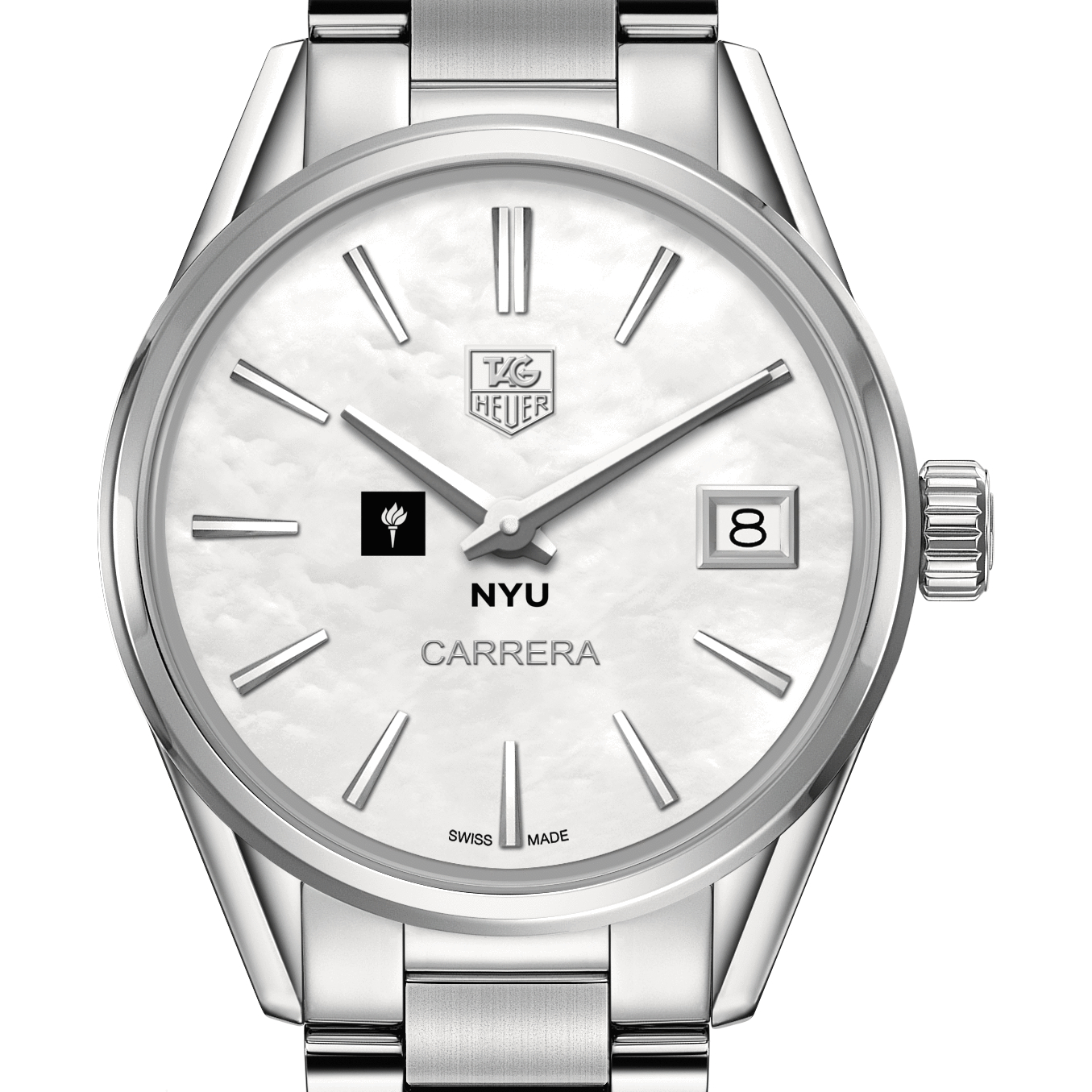 NYU Women's TAG Heuer Steel Carrera with MOP Dial