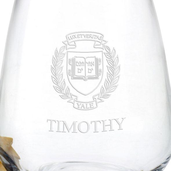 Yale University Stemless Wine Glasses - Set of 4 - Image 3