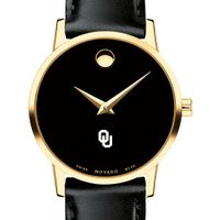 University of Oklahoma Women's Movado Gold Museum Classic Leather