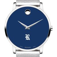 Rice University Men's Movado Museum with Blue Dial & Mesh Bracelet
