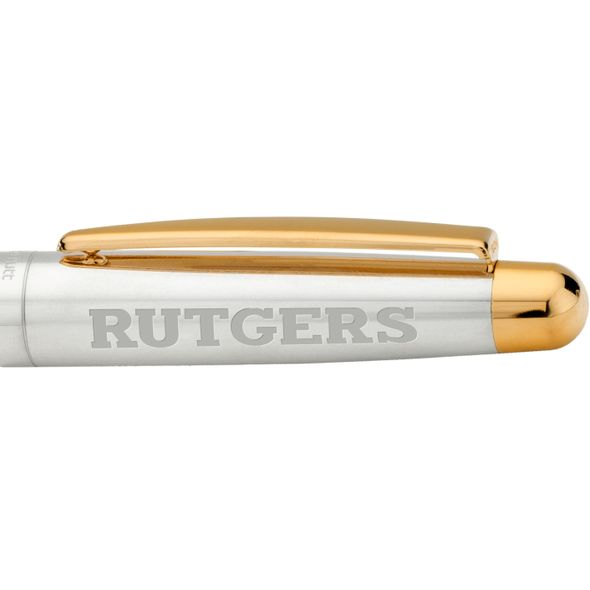 Rutgers University Fountain Pen in Sterling Silver with Gold Trim - Image 2