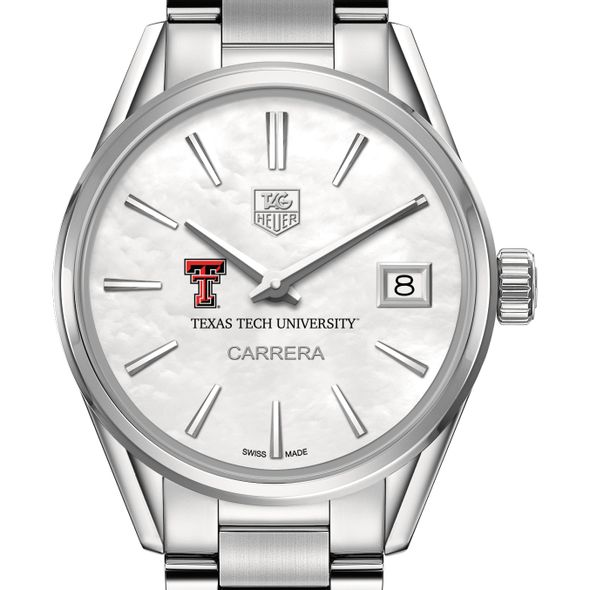 Texas Tech Women's TAG Heuer Steel Carrera with MOP Dial