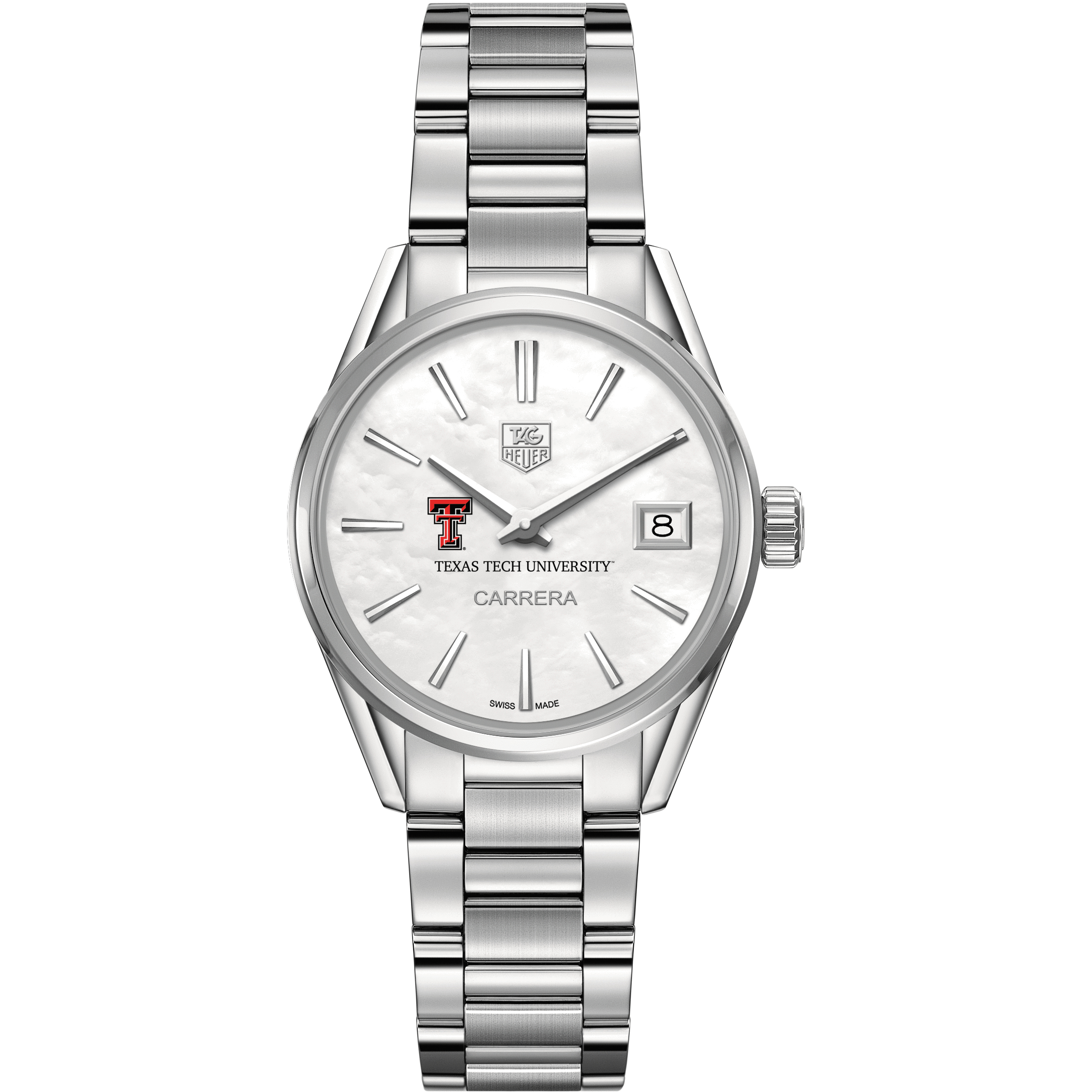 Texas Tech Women's TAG Heuer Steel Carrera with MOP Dial - Image 2