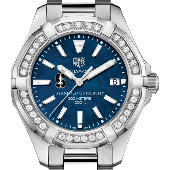 Stanford Women's TAG Heuer 35mm Steel Aquaracer with Blue Dial