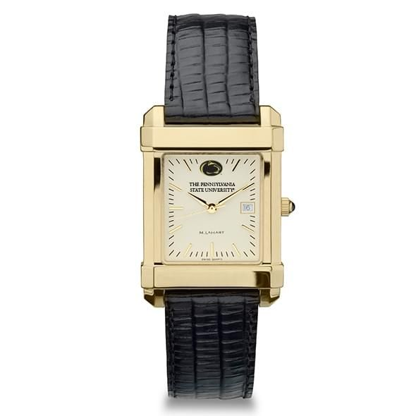 Penn State Men's Gold Quad Watch with Leather Strap - Image 2