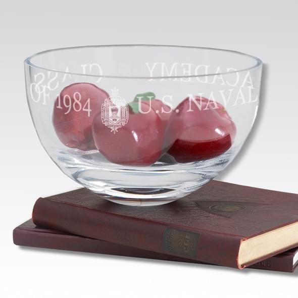 "USNA 10"" Glass Celebration Bowl - Image 2"