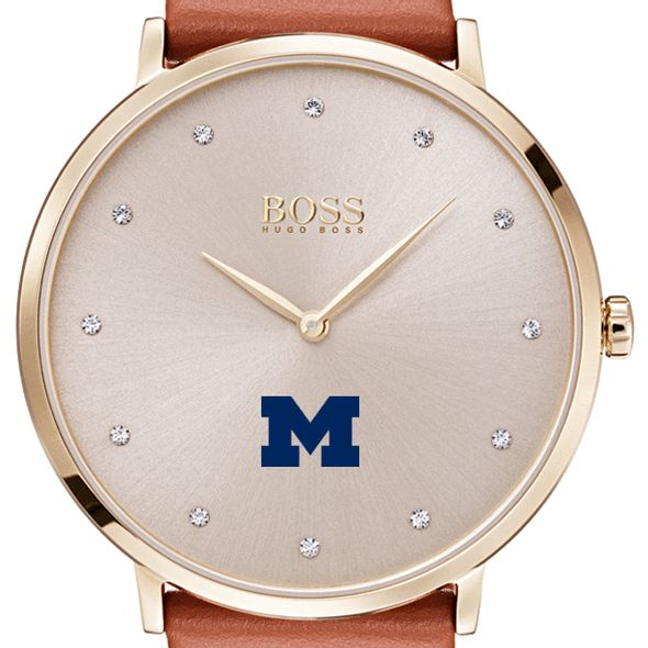 University of Michigan Women's BOSS Champagne with Leather from M.LaHart