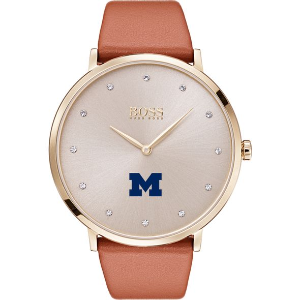University of Michigan Women's BOSS Champagne with Leather from M.LaHart - Image 2