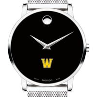 Williams College Men's Movado Museum with Mesh Bracelet